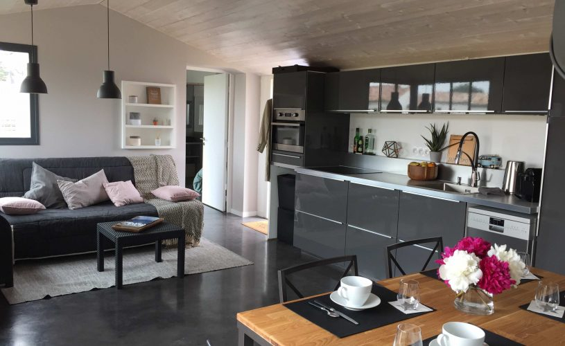 Chambres d'hôtes ile de Ré- Les Petites Terres - Pièce de vie accessible aux 2 chambres